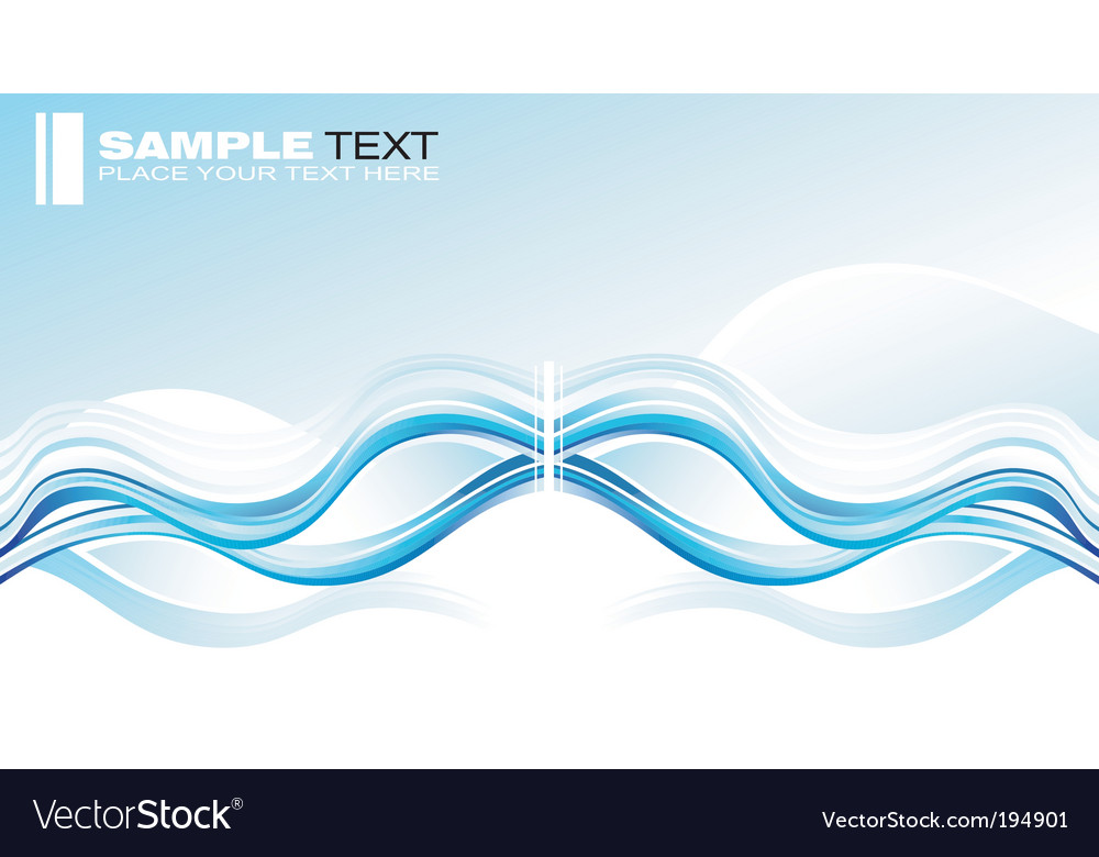 Concept wave graphic card vector