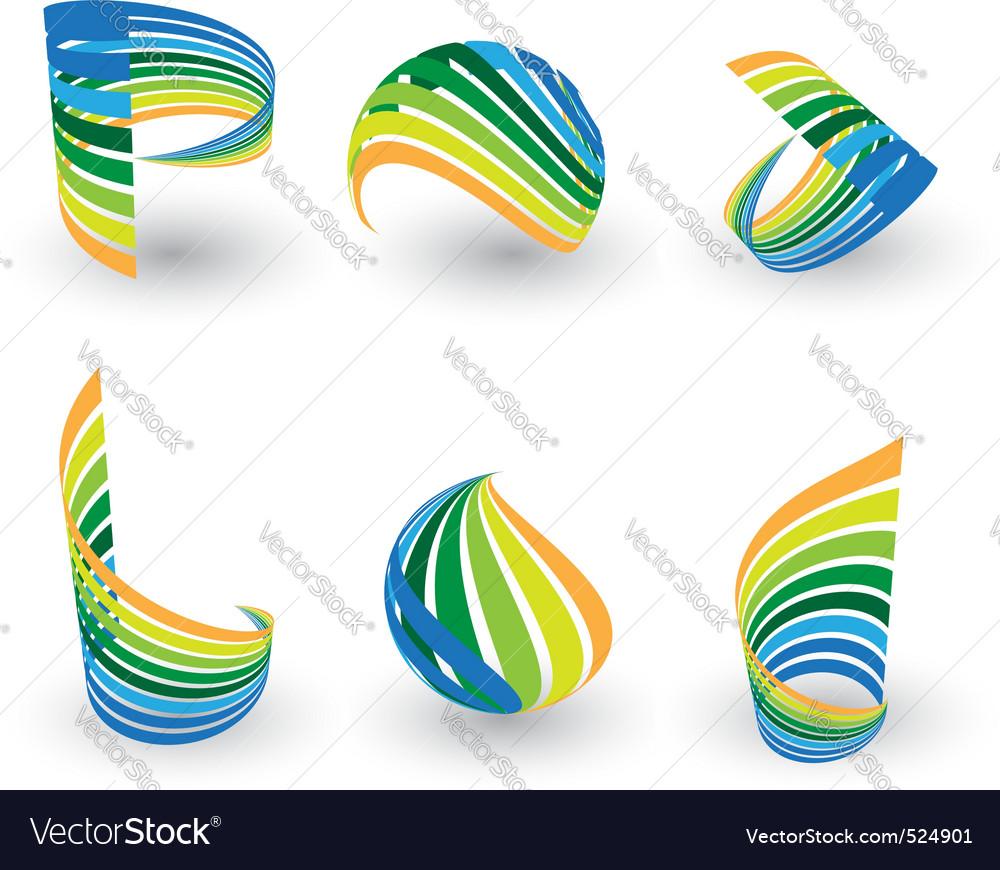 Logo spiral vector