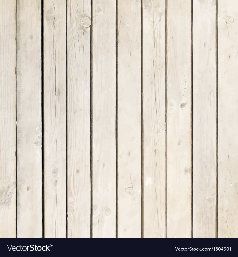 White wood board background vector