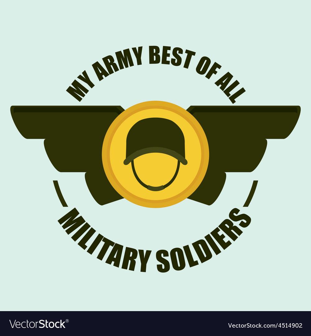 Army design vector