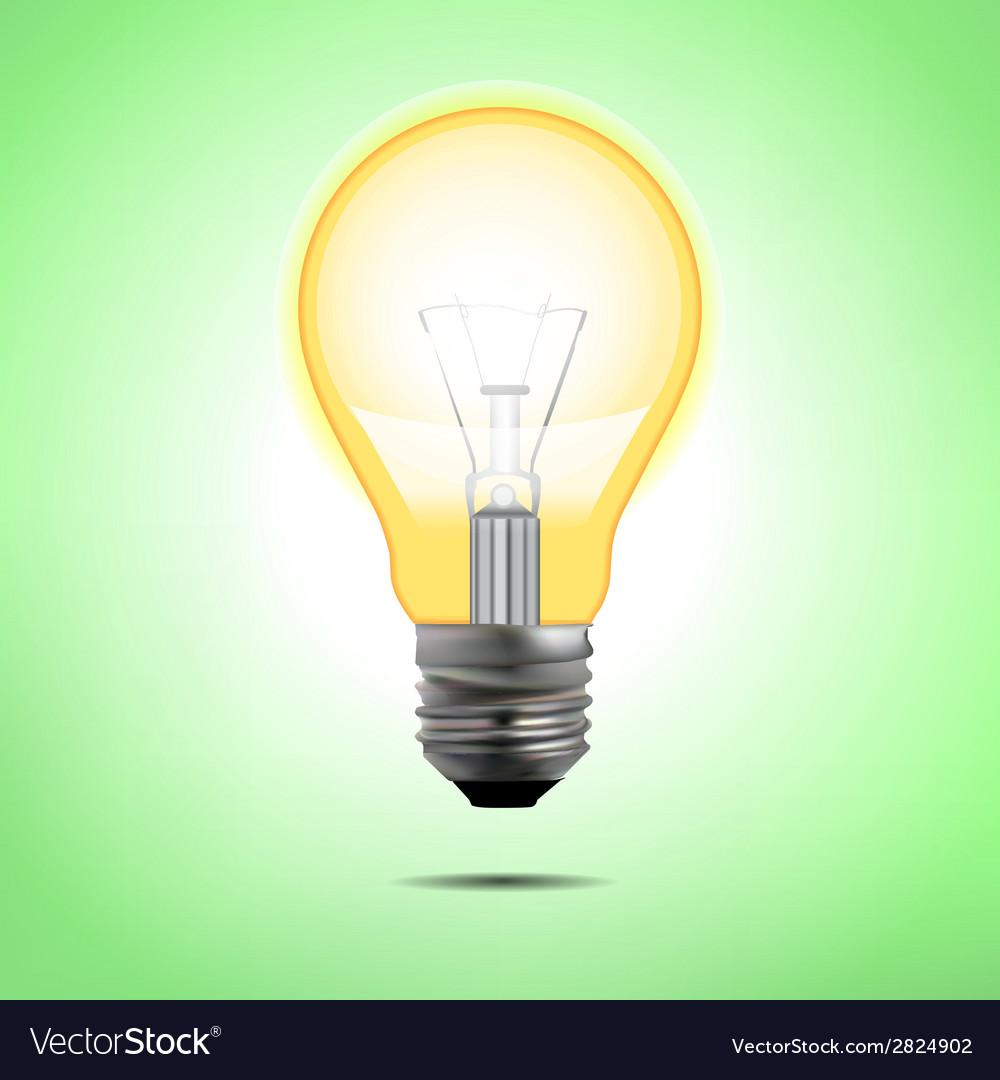 Incandescent electric lamp in format vector