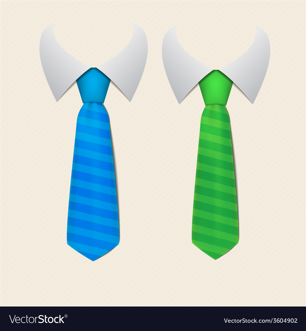 Two stripped tie vector