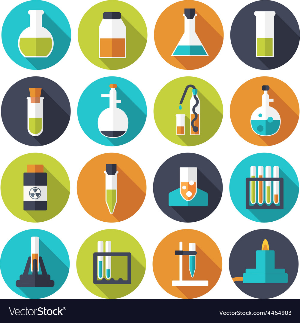 Retro experiments in a science chemistry vector