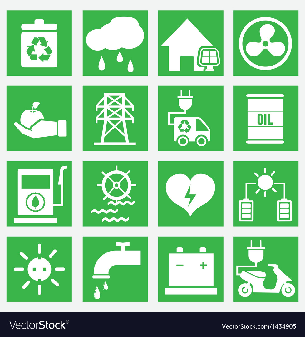 Set of energy saving icons - part 2 vector