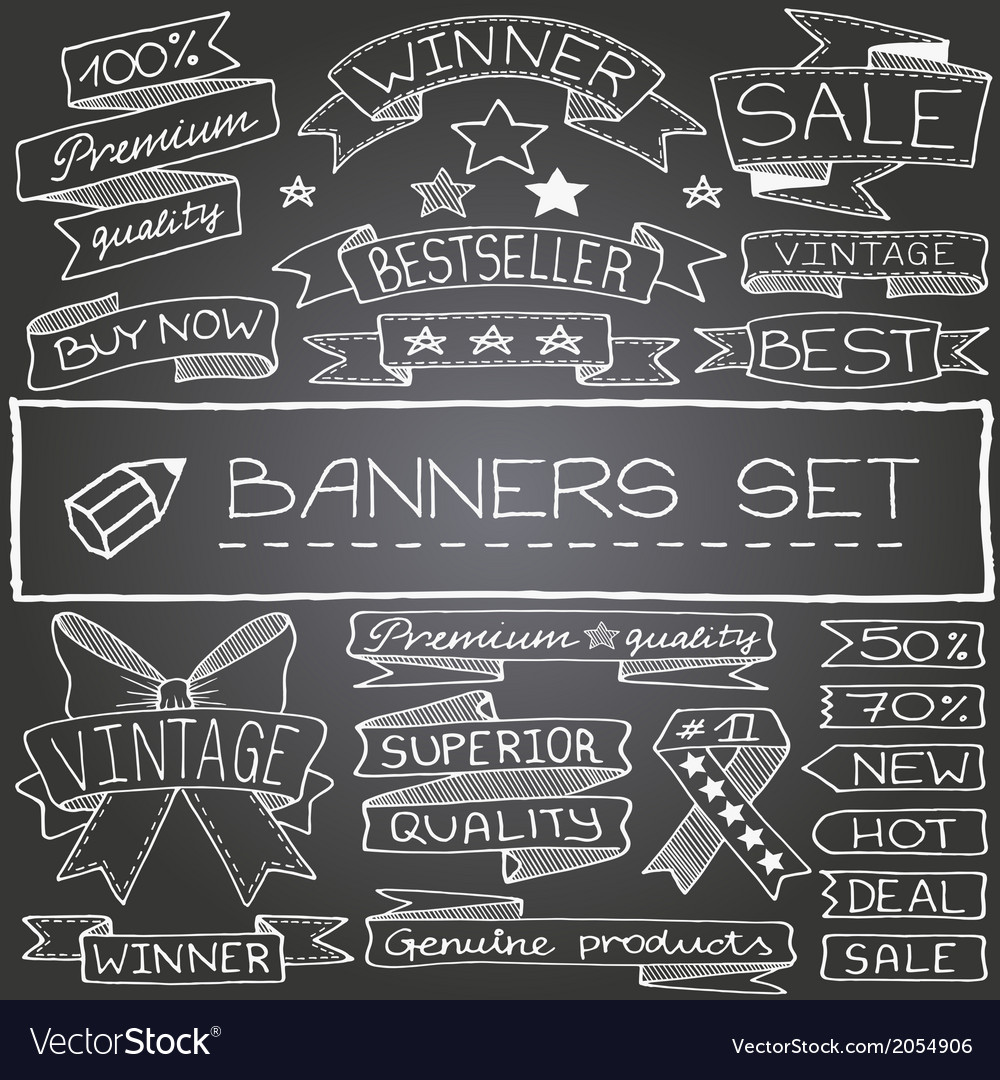 Set of banner design elements vector