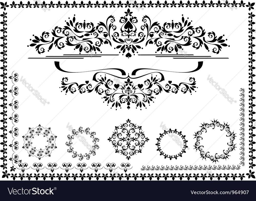 Black ornamental frame vector