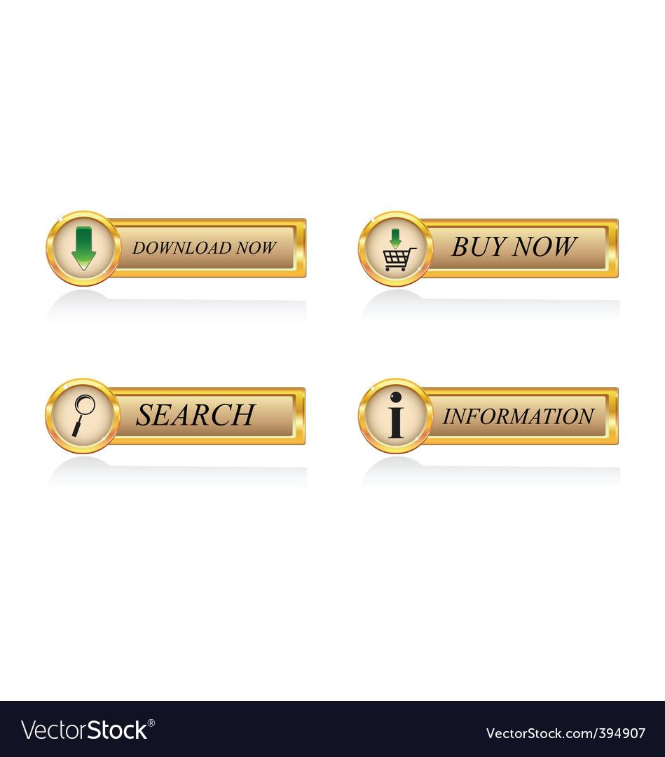 Gold buttons set vector