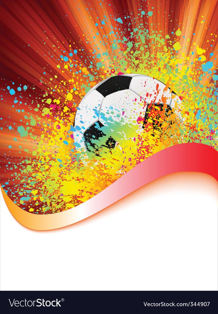 Grunge football poster vector