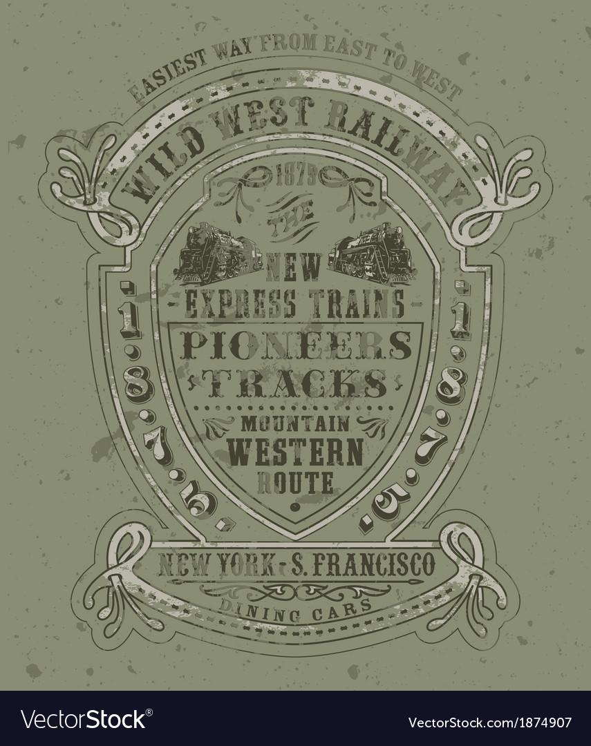 Wild west railway vector