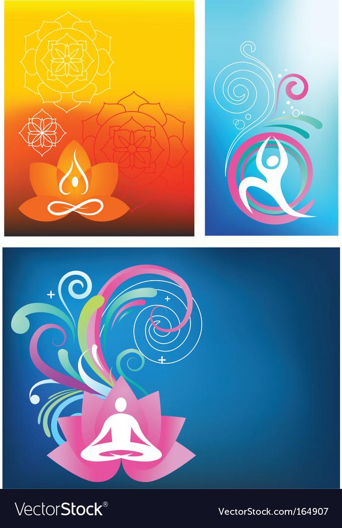 Yoga backgrounds vector
