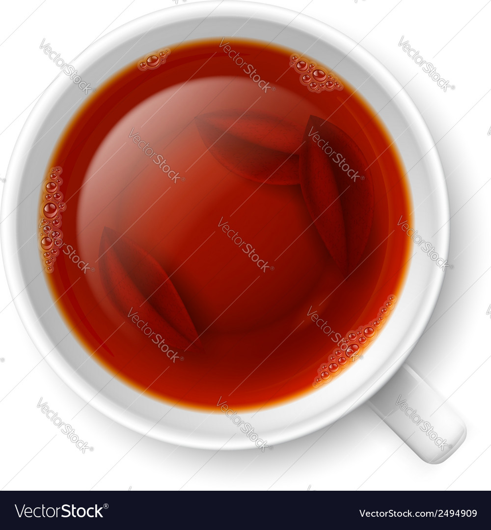Cup of black tea vector