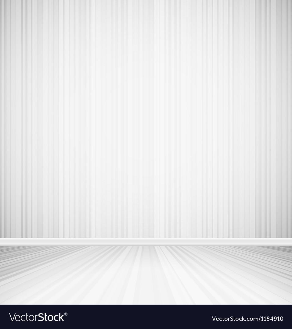 Bright empty room vector