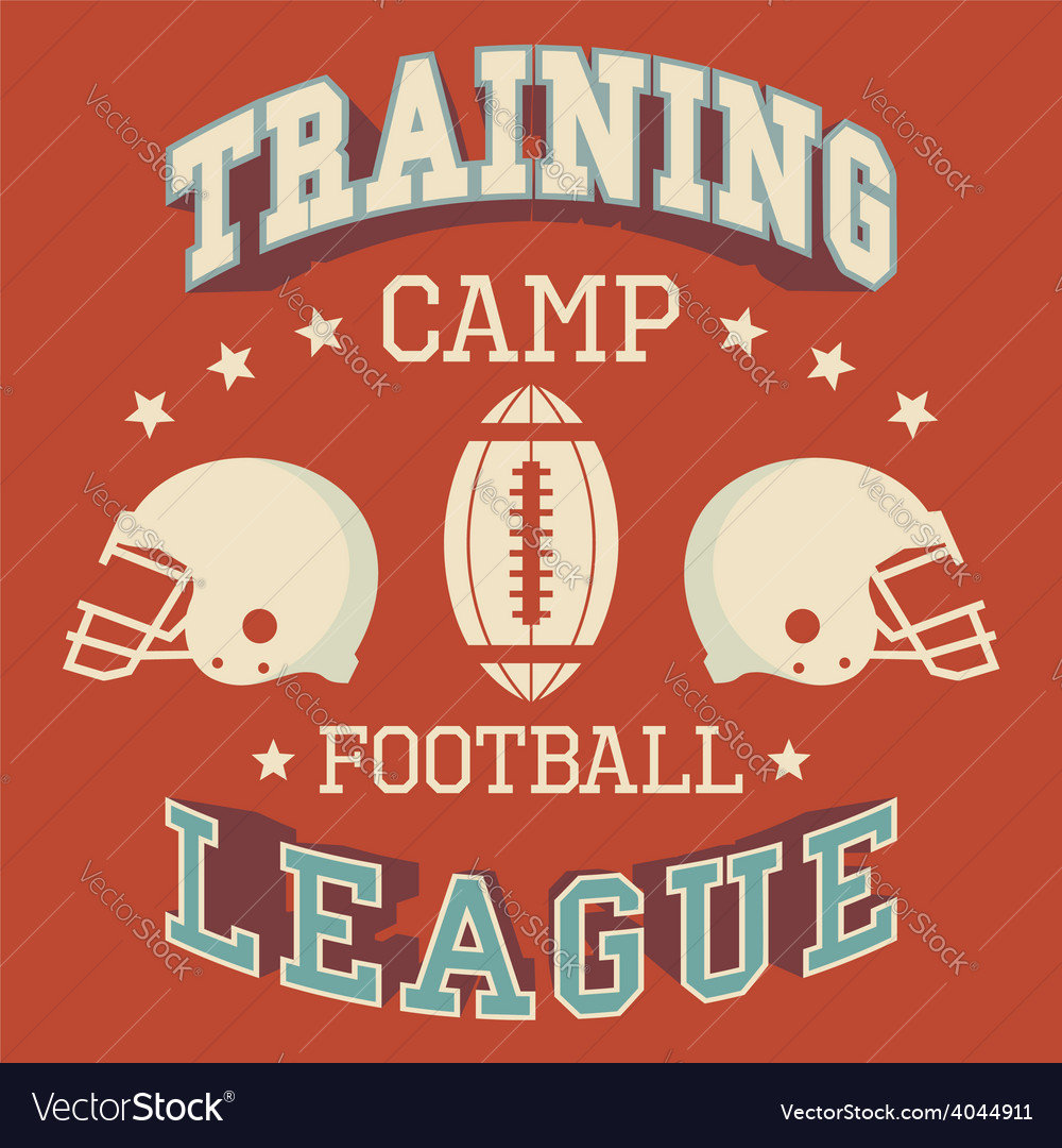 Training camp american football vector