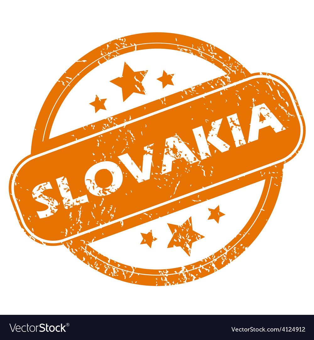 Slovakia grunge icon vector