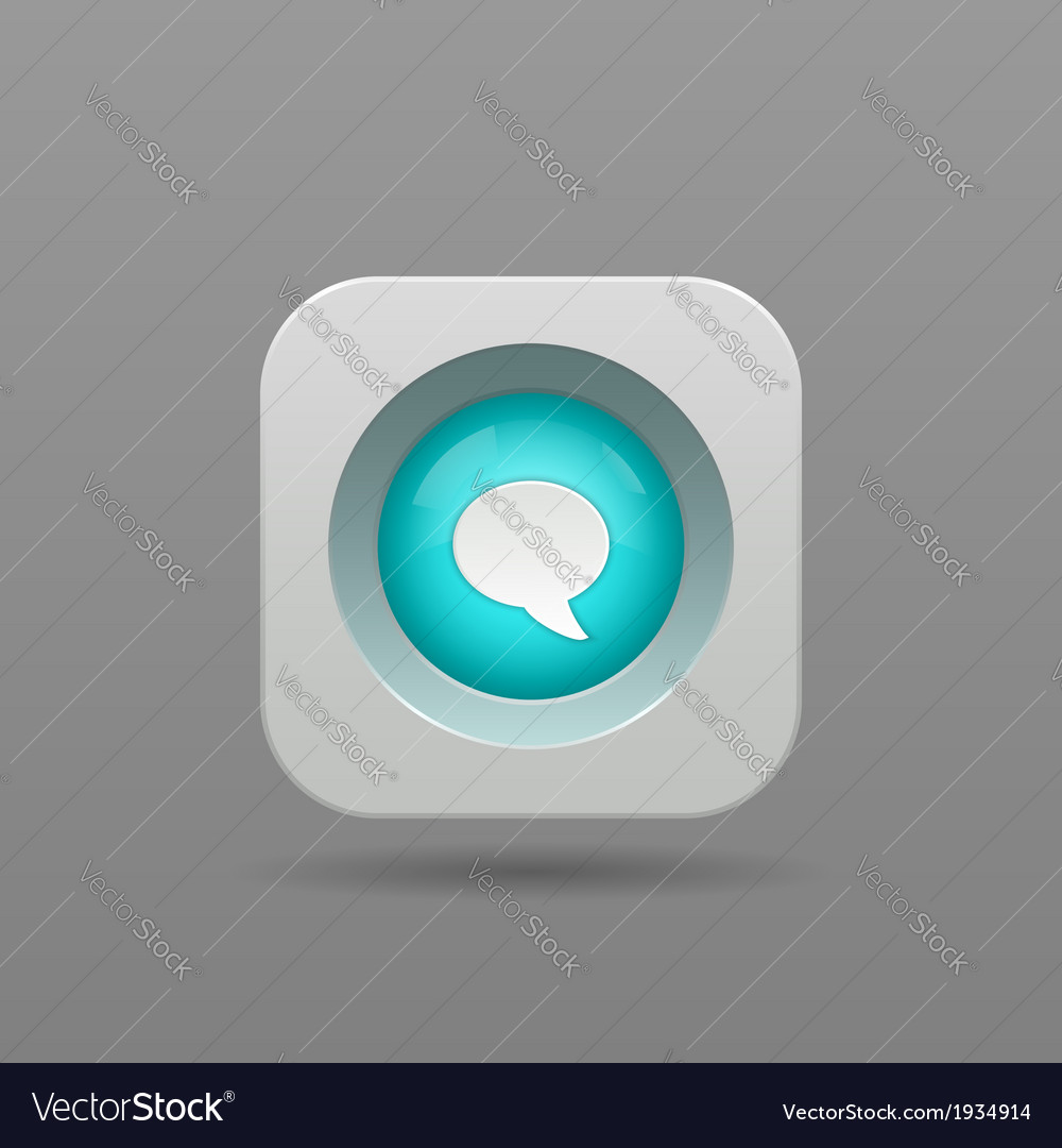 Speech bubble button vector