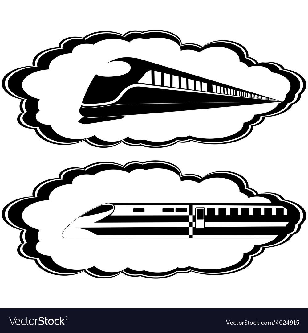 Modern locomotives vector