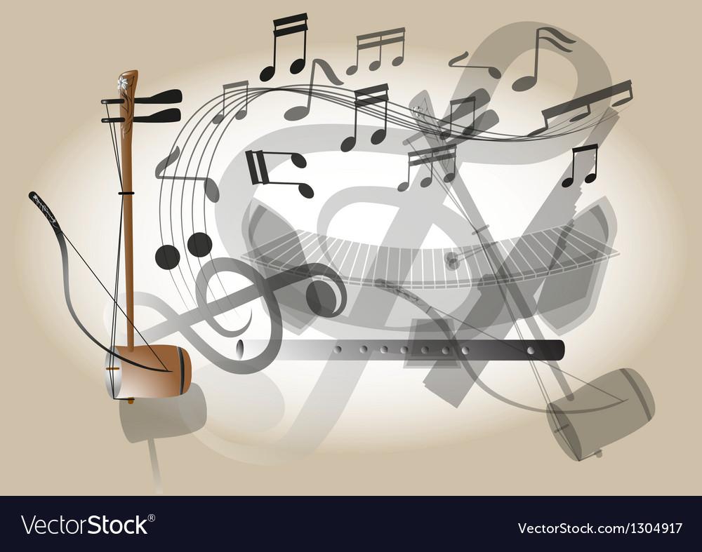 Thailand fiddle vector