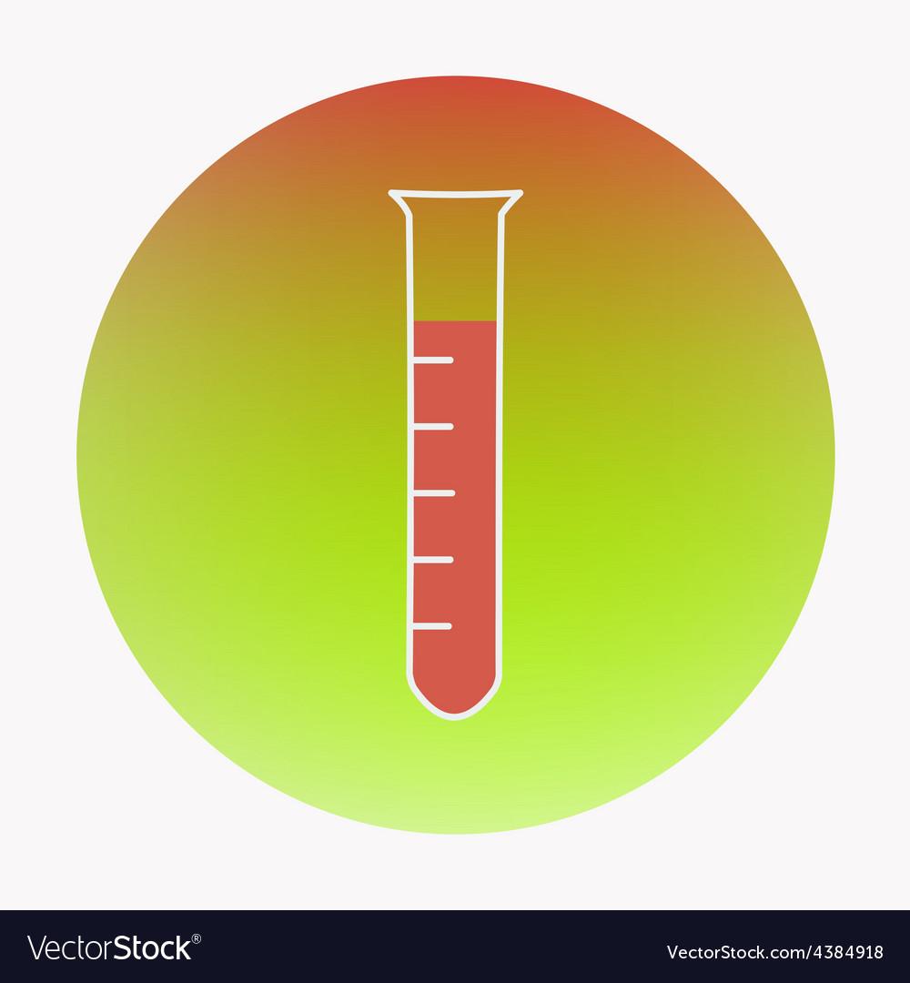 Medical flat design icon test-tube vector