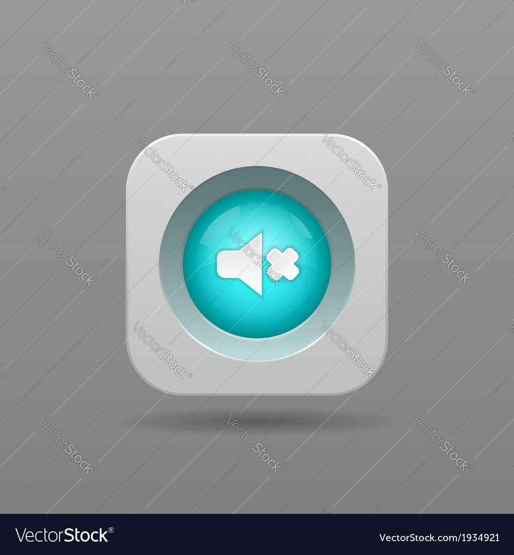 Speaker button vector