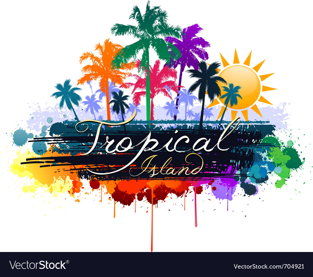 Tropical background vector