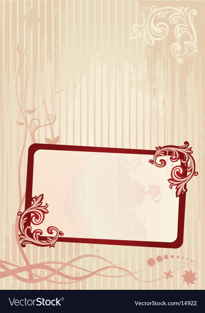 Wallpaper frame vector
