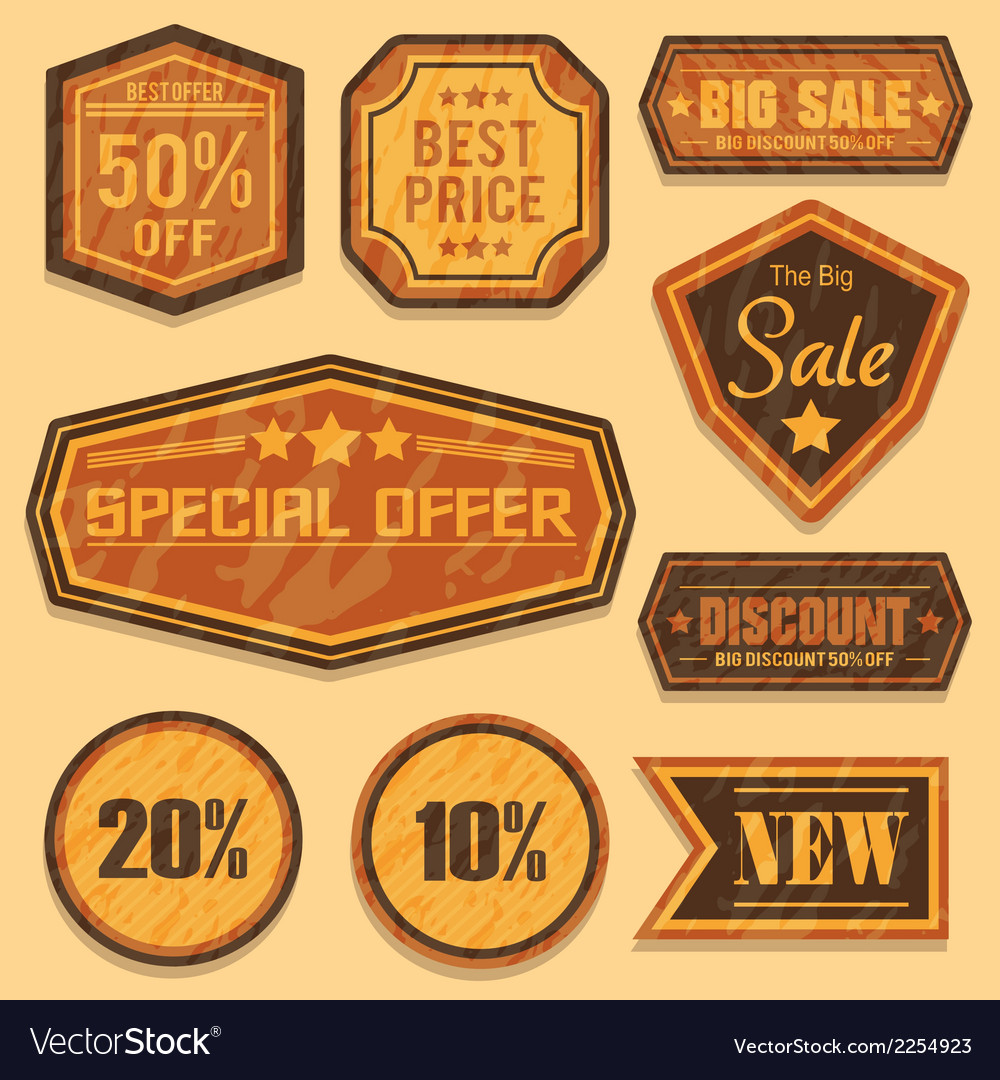 Retro sale badges vector