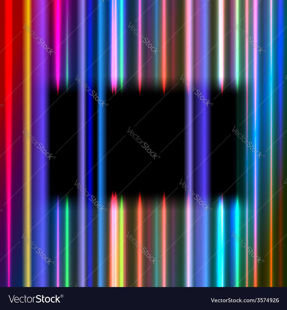 Black rectangular frame vector