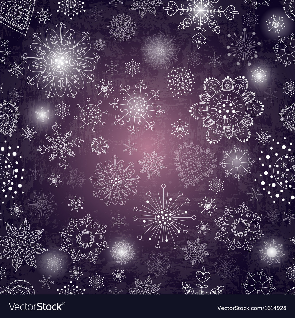 Abstract background with snowflake vector