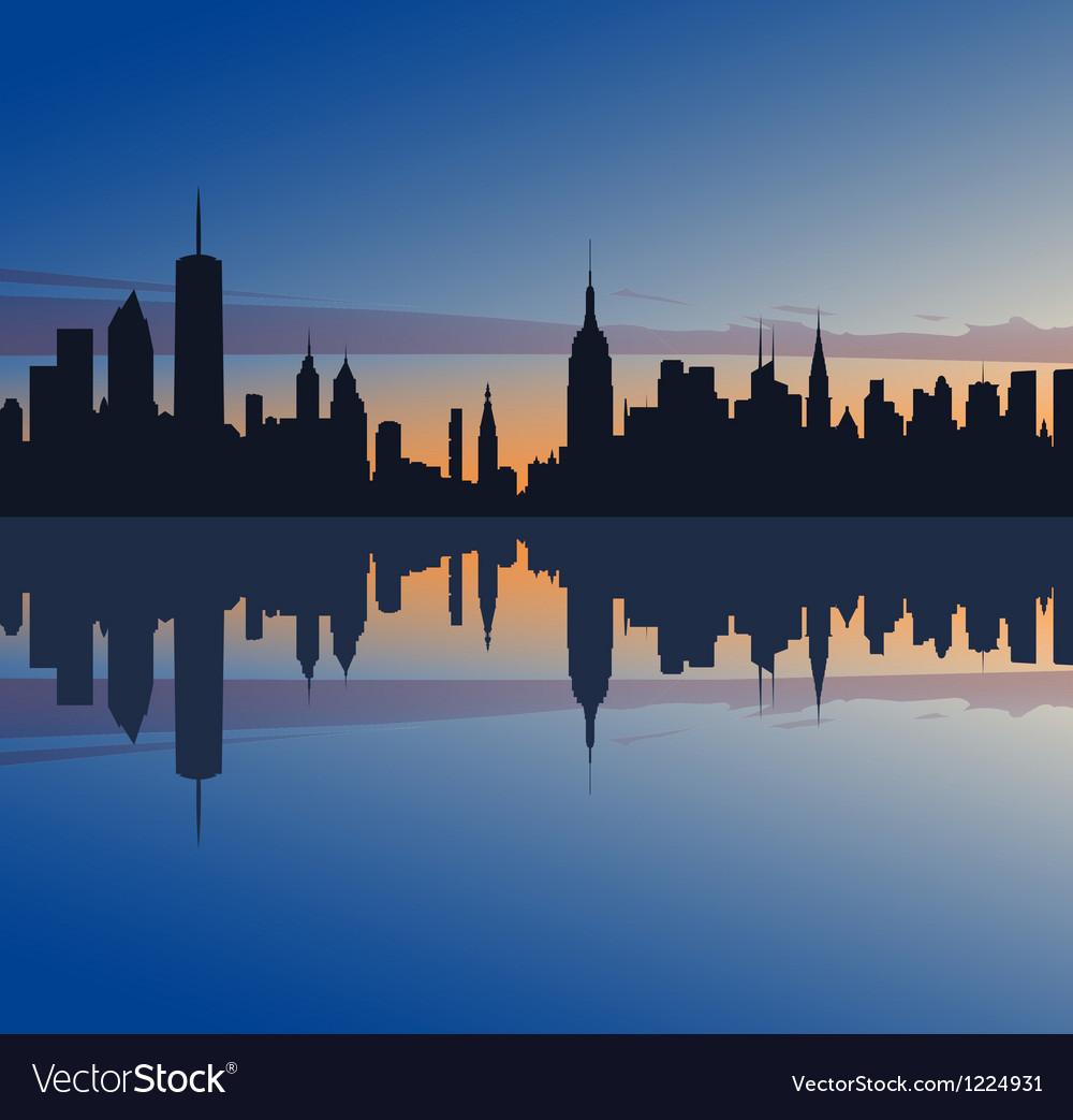 New york profile vector