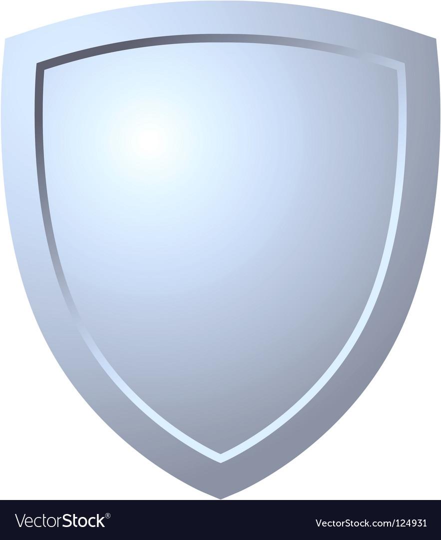 Triangular shield vector