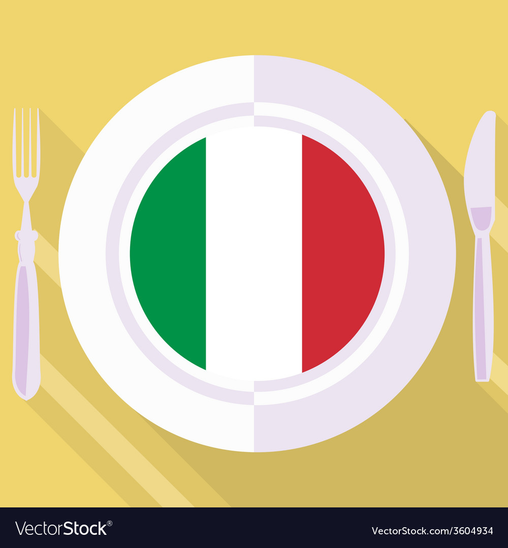 Kitchen of italy vector