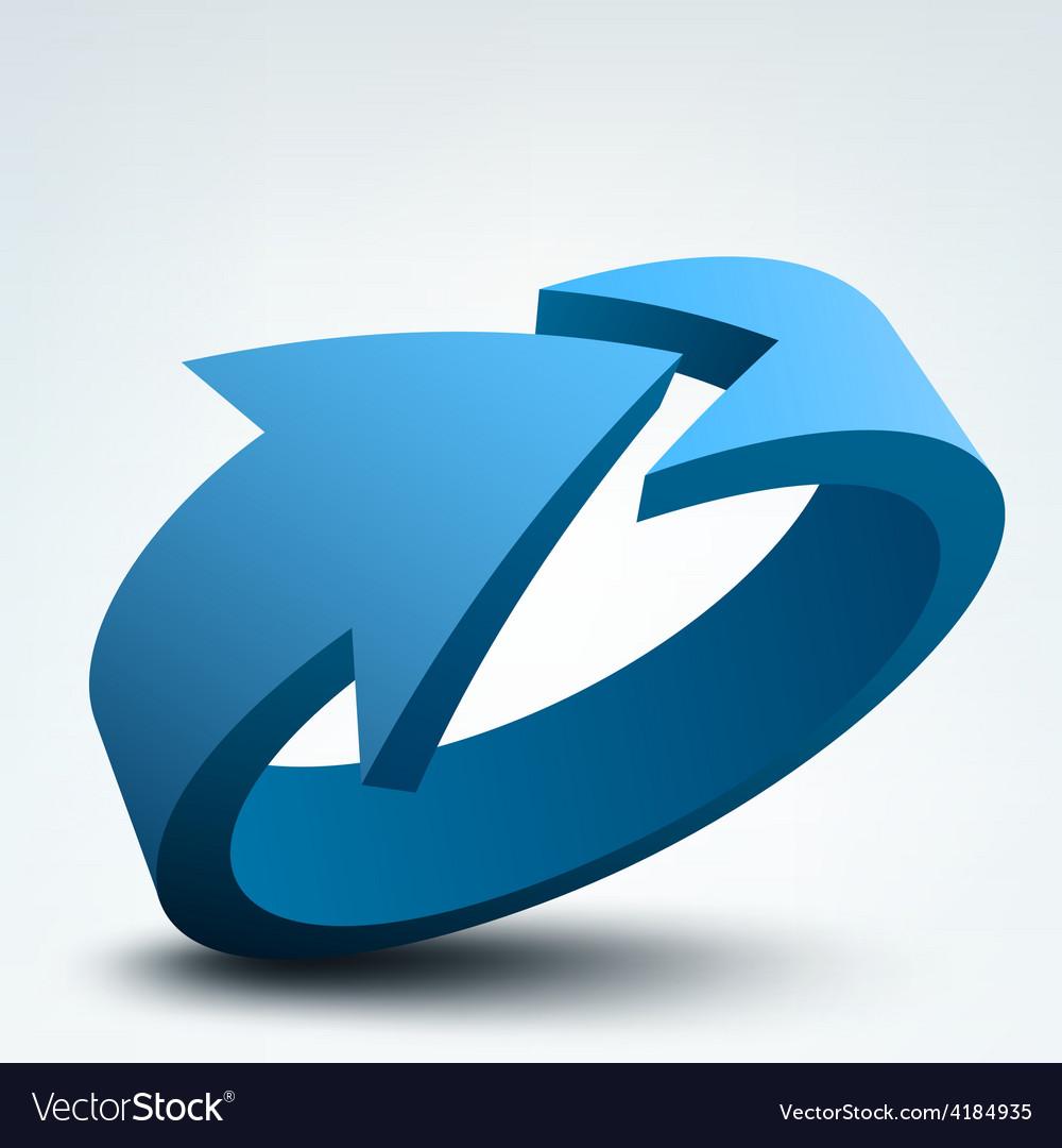 Abstract  3d arrow logo vector