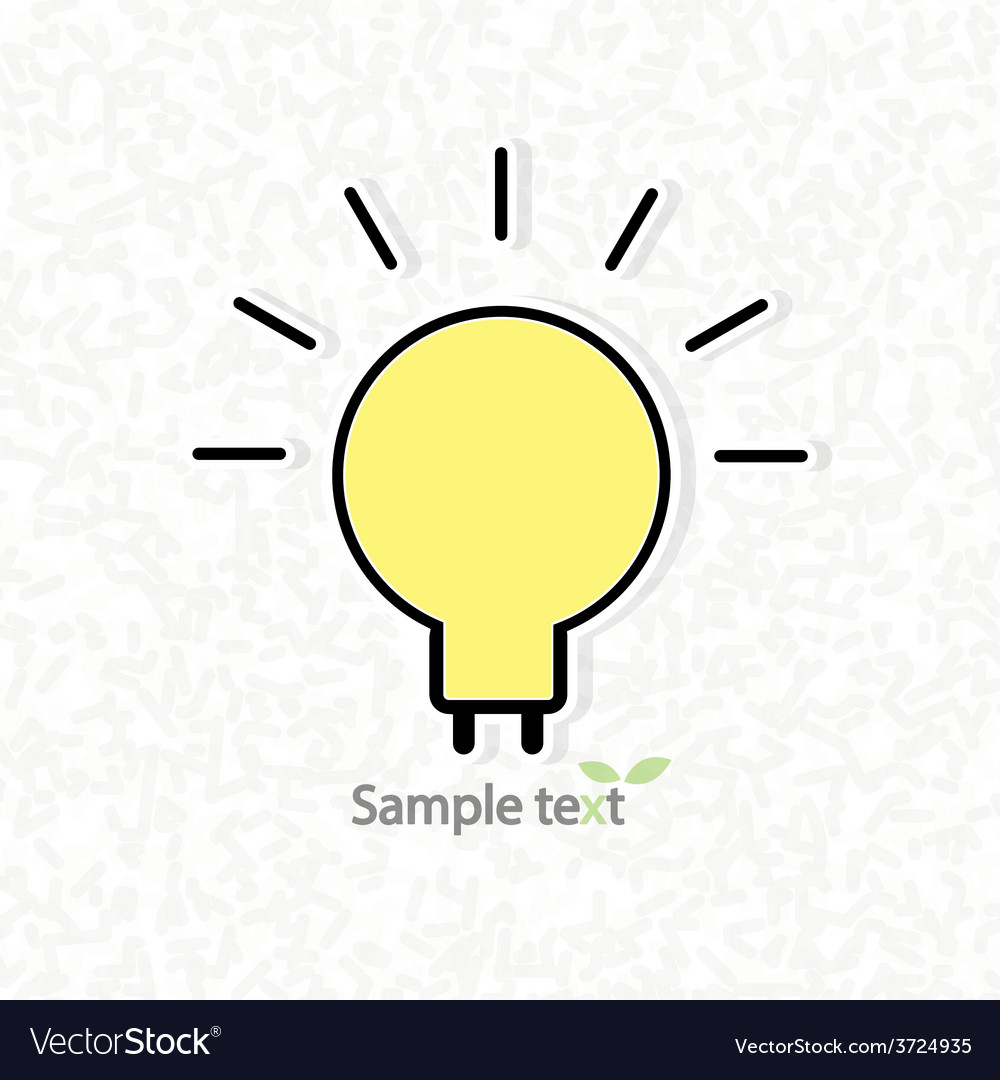 Light bulb idea of scribble abstract pattern vector
