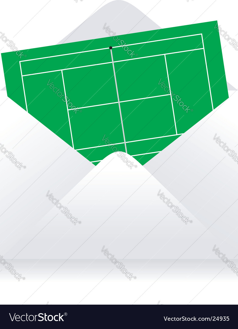Tennis court delivery vector
