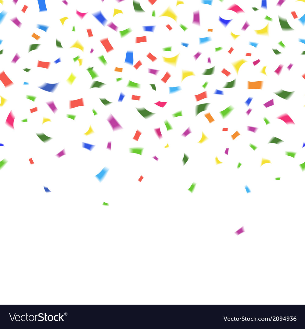 Template of vibrant colorful confetti vector