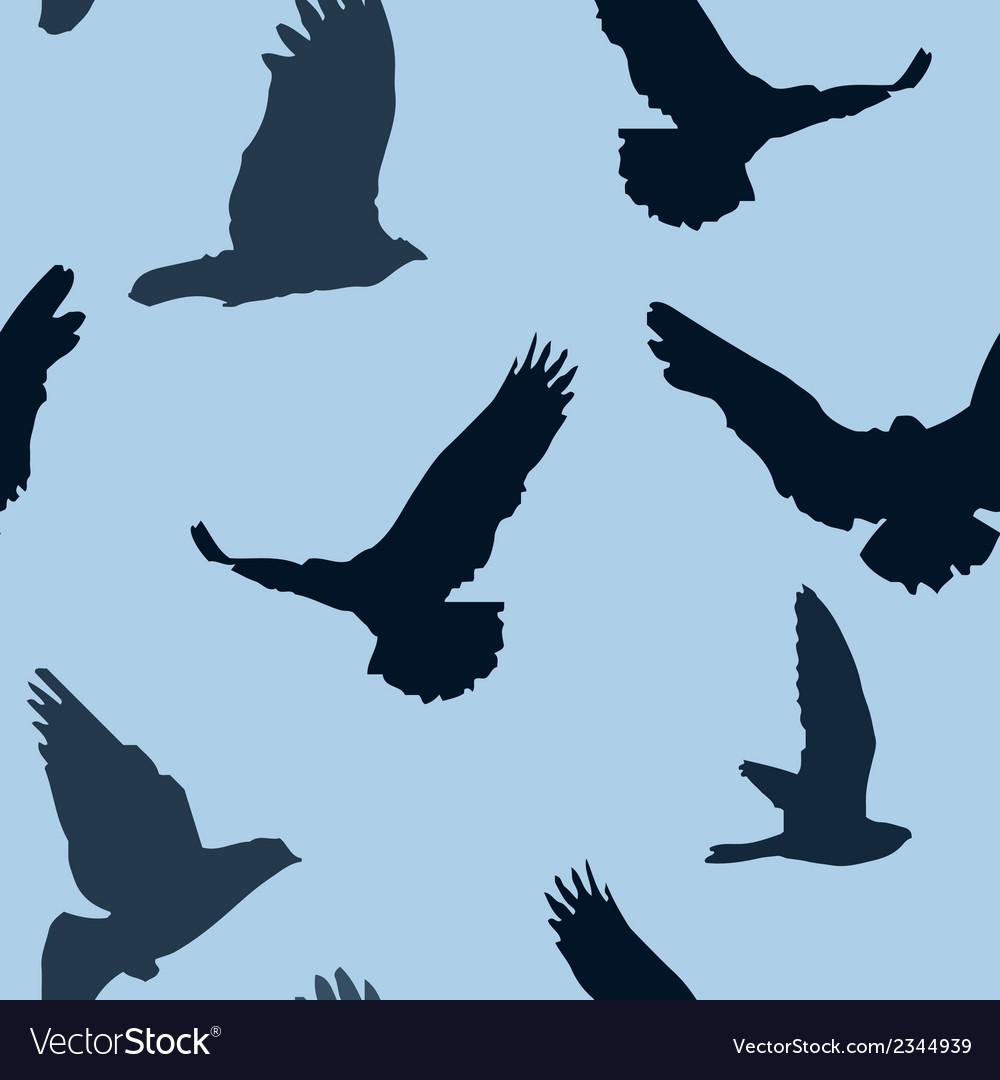 Birds background seamless pattern vector