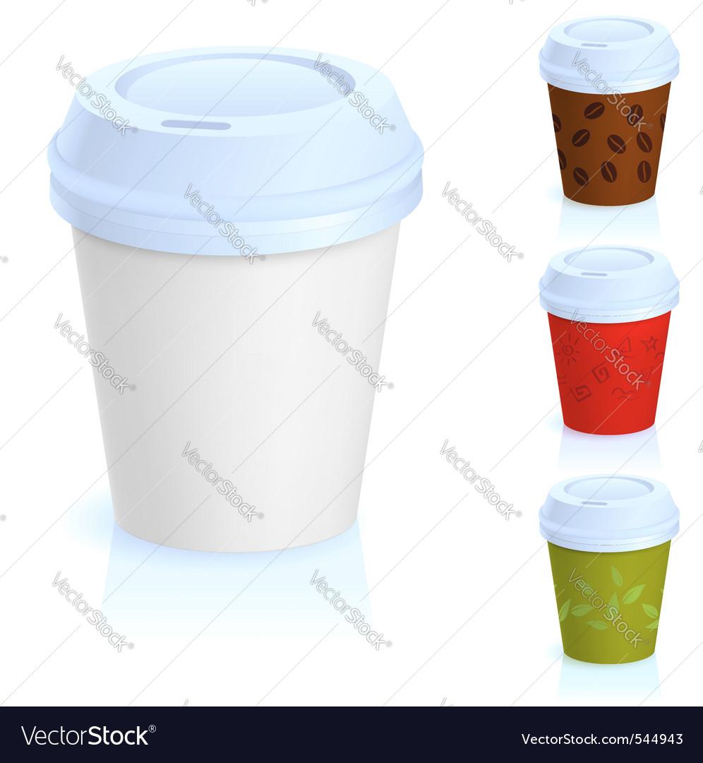 Takeaway coffee cup vector