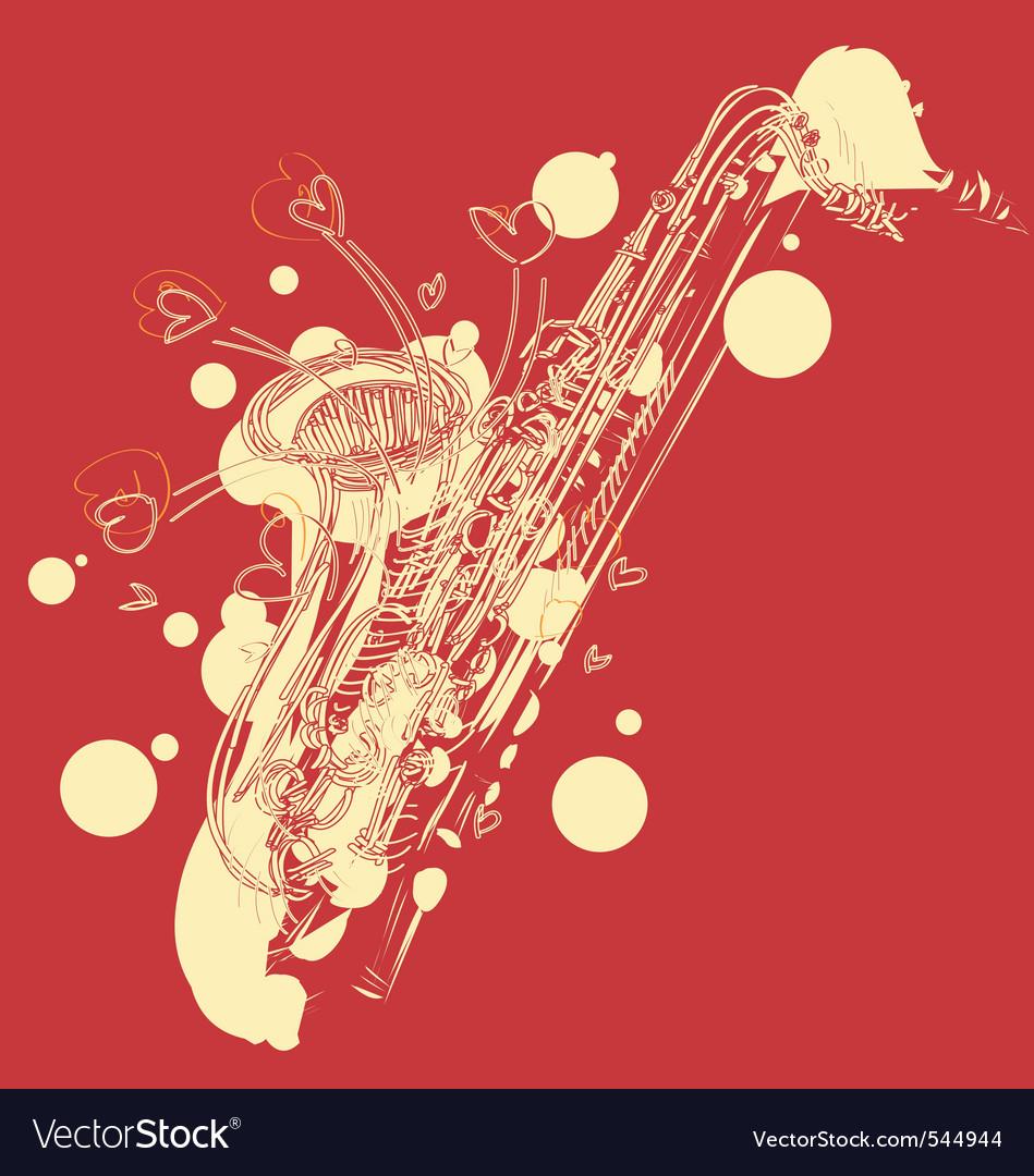 Abstract sketchy sax vector