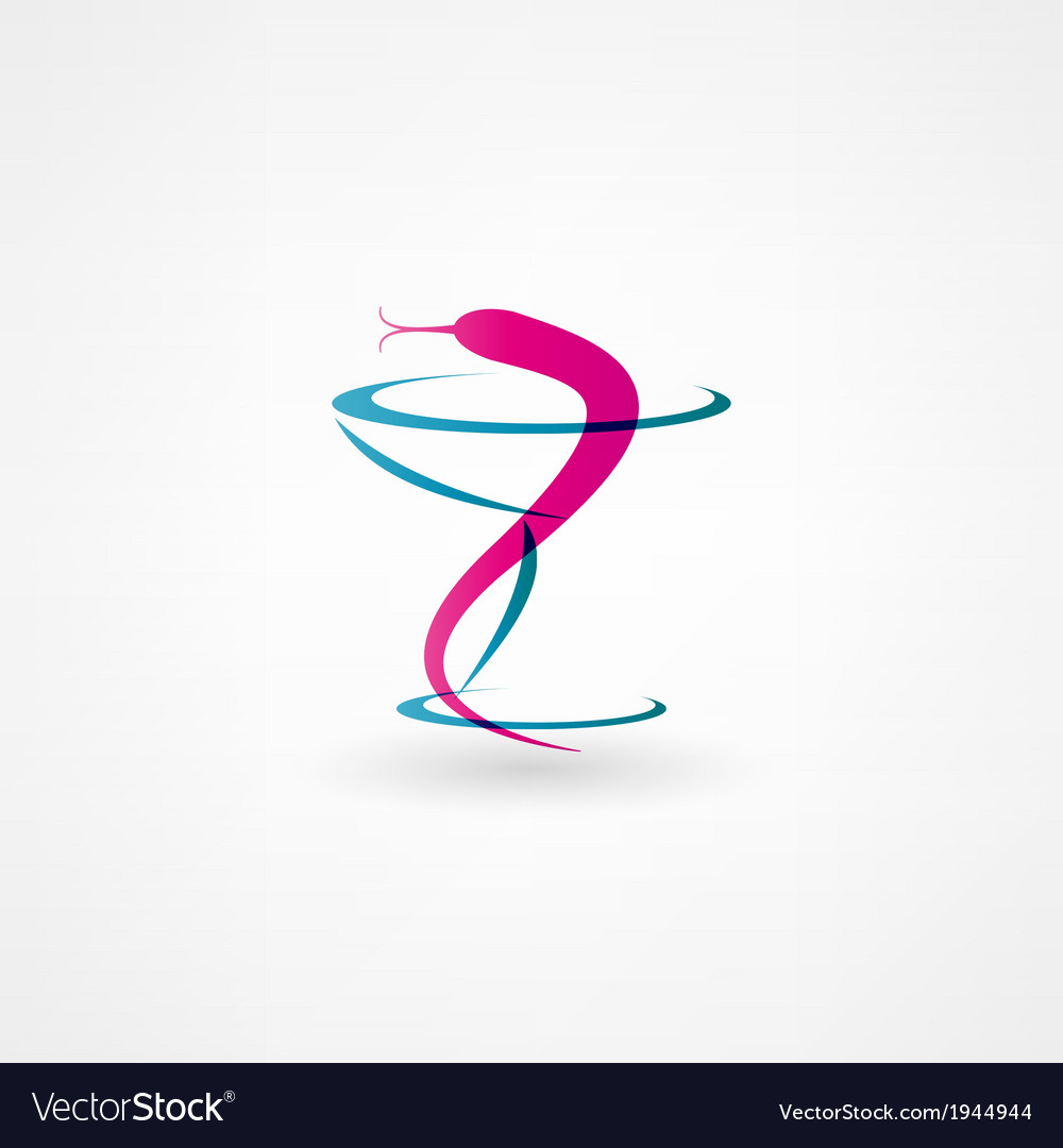 Medical snake icon vector