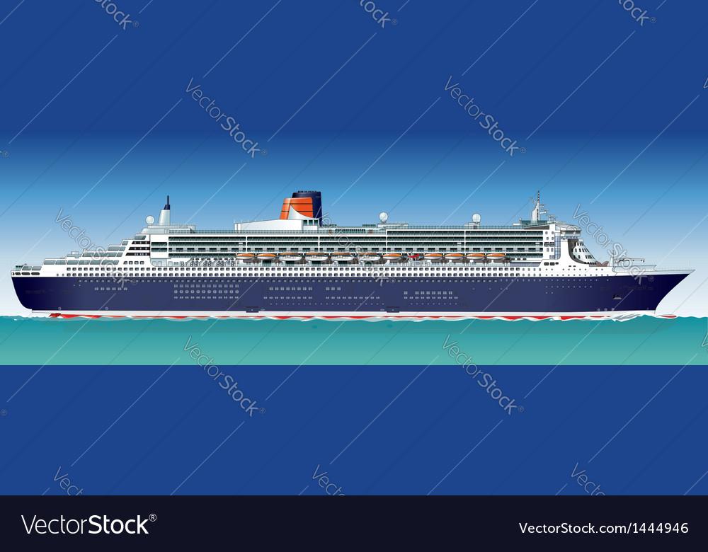 Hi-detailed cruise ship vector