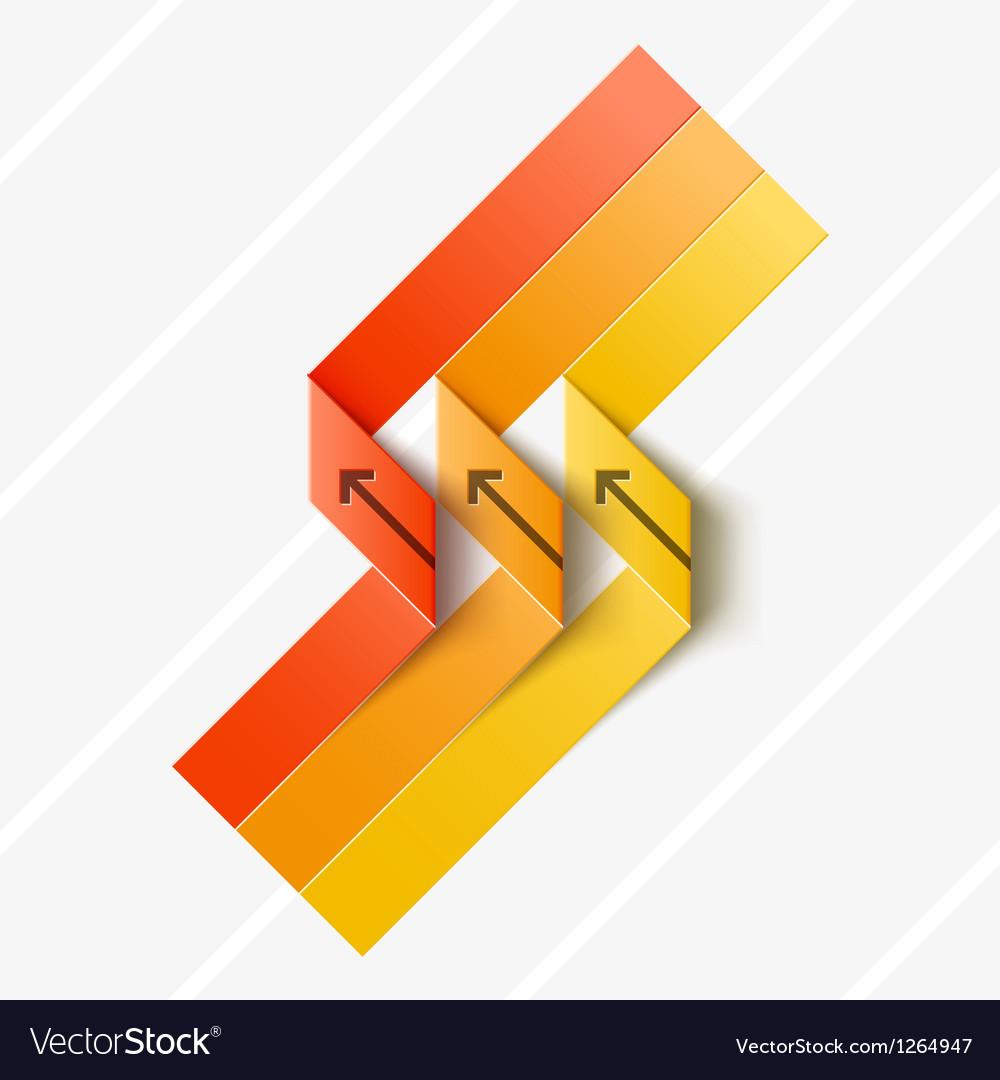 Ribbon origami vector