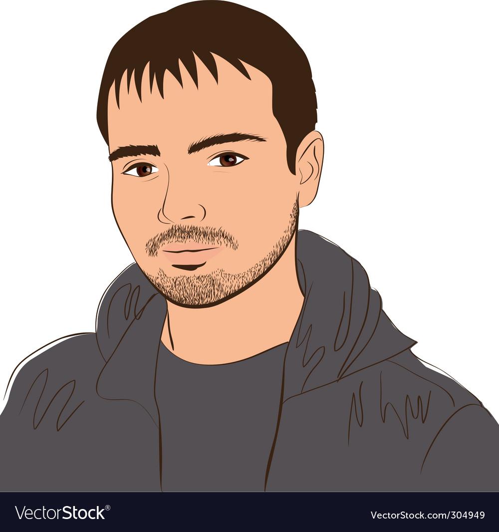 Face man vector