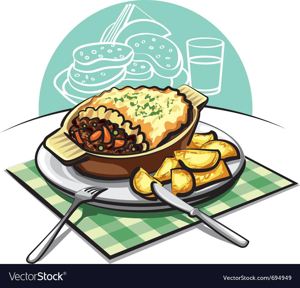 Shepherds meat pie vector