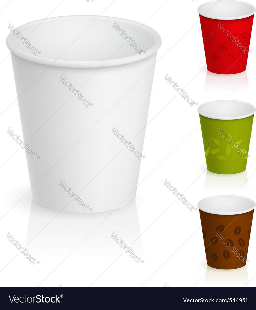 Cardboard coffee cups vector