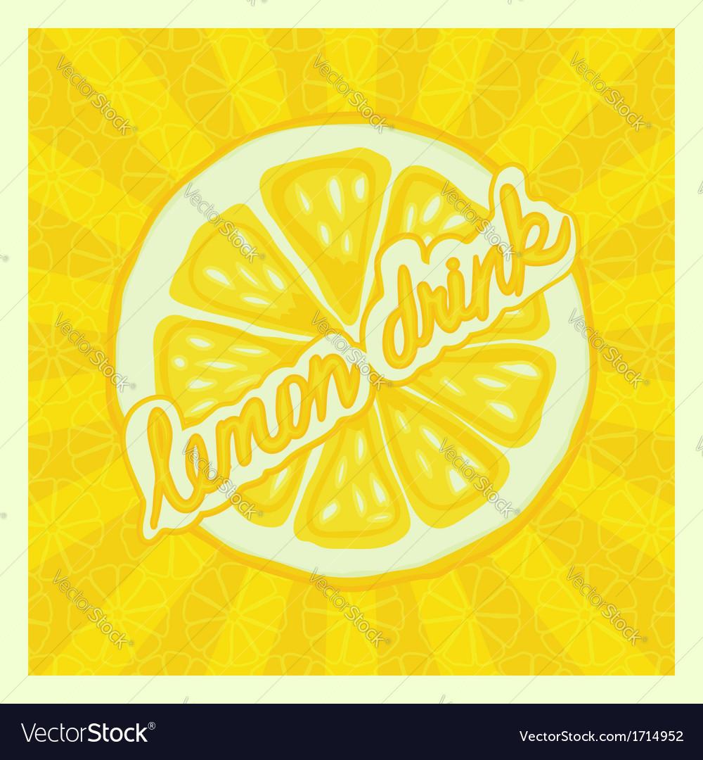 Lemon drink background - vector