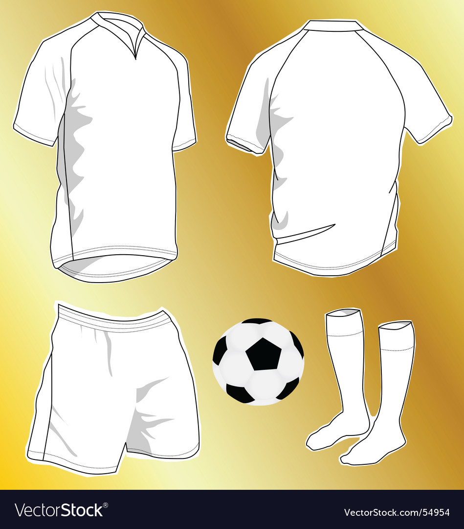 Sport uniforms vector