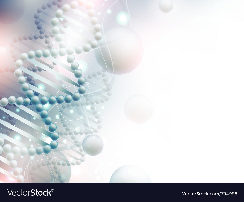 Science background with dna vector