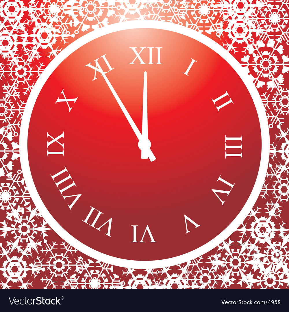 5 minutes up to christmas vector