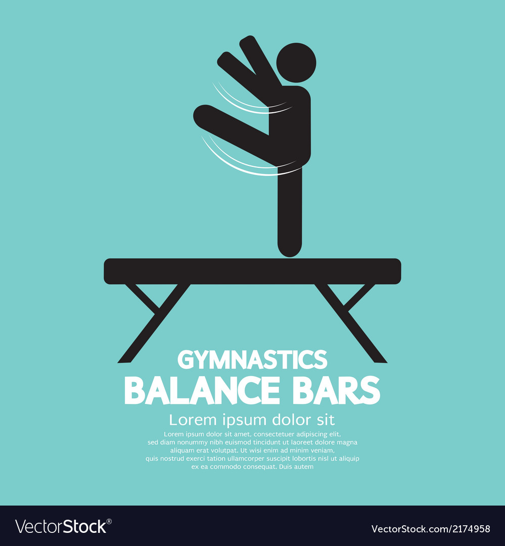Balance bars gymnastics vector