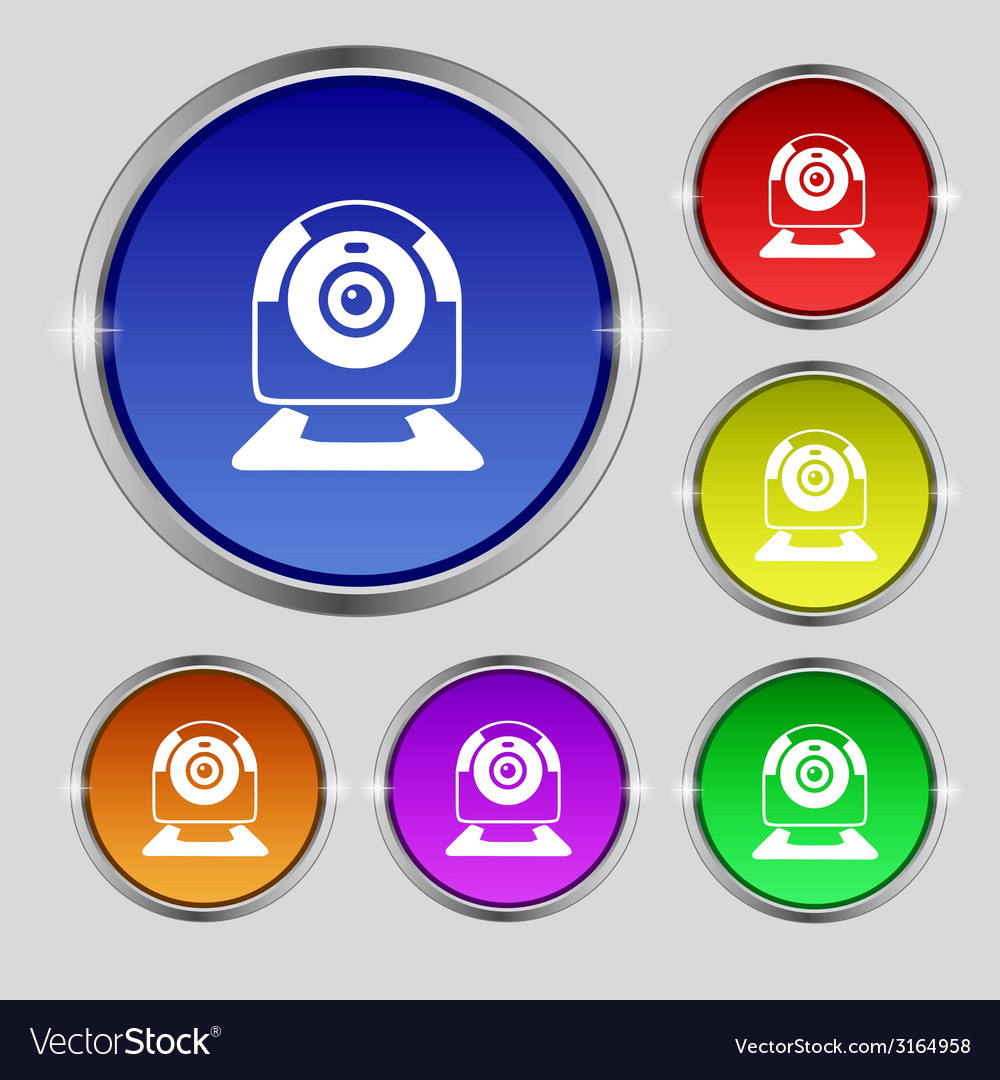 Webcam sign icon web video chat symbol camera chat vector